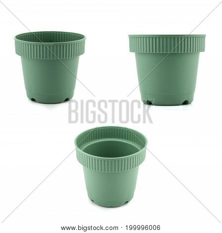 The flower pot isolated on white background