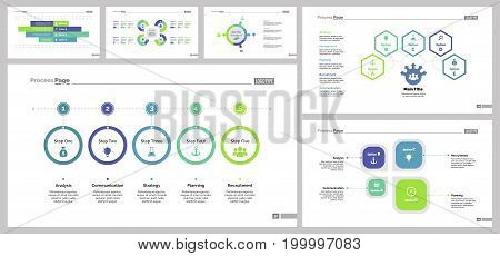 Infographic design set can be used for workflow layout, diagram, annual report, presentation, web design. Business and teamwork concept with process, flow and bar charts.