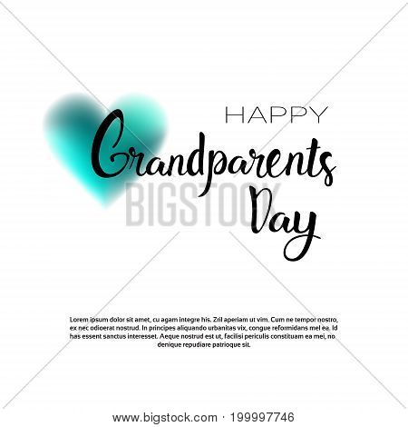 Happy Grandparents Day Greeting Card Banner With Copy Space Vector Illustration