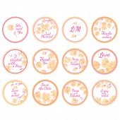 Personalized Candy Sticker Labels with sakura big set - perfect addition to wedding or party favors poster