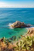 Idyllic Meditteranean beach near Calella at the Costa Brava Spain. poster