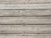 wooden planks along the city dock poster