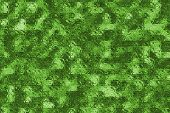 Illustrative background of miniature green glass blocks. poster