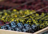close up on role playing game rpg dices poster