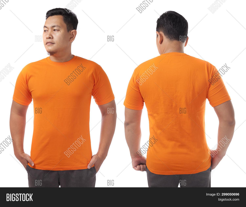 Orange T Shirt Mock Image Photo Free Trial Bigstock