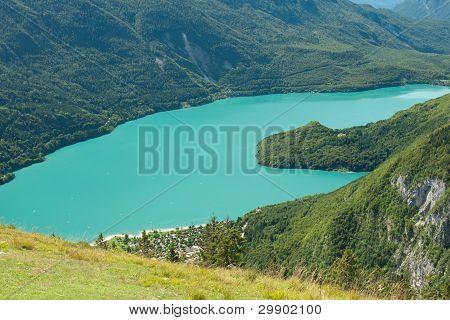 landscape lake in Trentino Dolomiti Italy