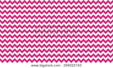 Serrated Striped Pink Color For Background, Art Line Shape Zig Zag Pink Color, Wallpaper Stroke Line