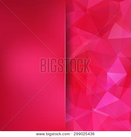 Pink Polygonal Vector Background. Blur Background. Can Be Used In Cover Design, Book Design, Website