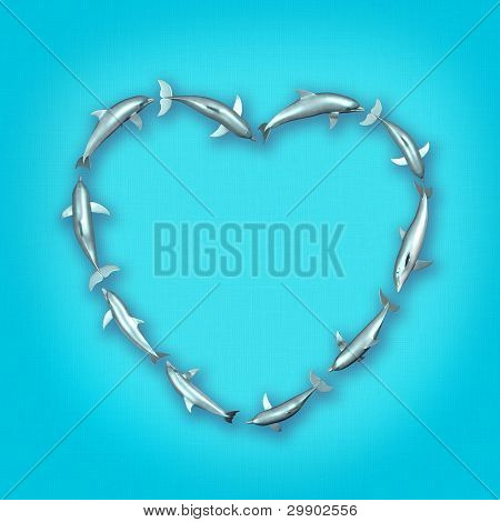 Dolphin Heart Mark