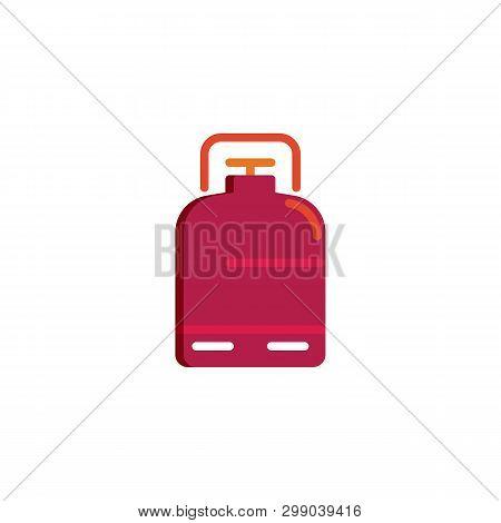 Portable Gas Tank Flat Icon, Vector Sign, Propane, Butane, Methane Gas Tank Colorful Pictogram Isola