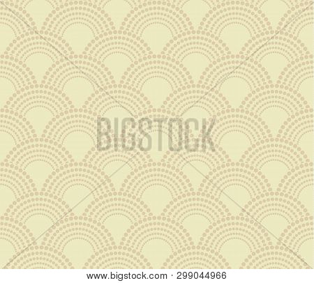 Chinese Traditional Oriental Ornament Background, Beige Pattern Seamless