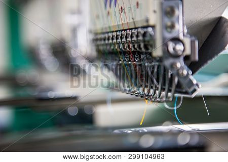 Embroidery Machine Needle In Textile Industry At Garment Manufacturers, Embroidery Needle, Needle Wi
