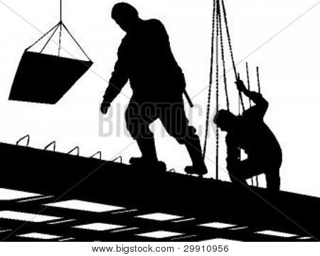 construction workers, vector