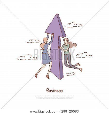Successful Entrepreneurship, Progress, Business Development Metaphor, Job, Promotion,coworking Banne