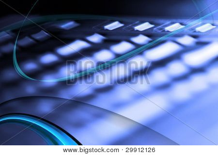 technology background, no 3 (abstract laptop keyboard)