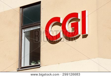 Orebro, Sweden - April 17, 2019: Close-up Of The Cgi It Consultant And Sourcing Company Cgi.