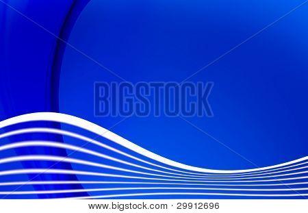 waves on blue background