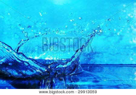 water splash background with shallow DOF (water series B, no:5)