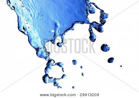 isolated macro waterdrops (water series B)