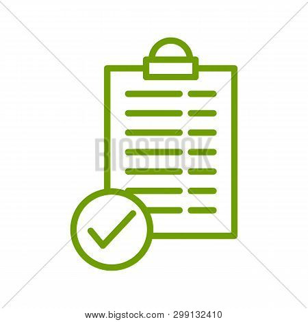 Checklist Vector Icon On White Background. Checklist Icon In Modern Design Style. Checklist Vector I