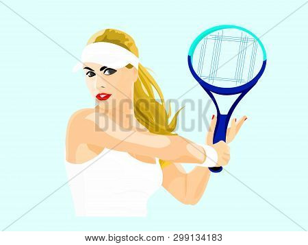 Girl Tennis Player Drawing Illustration Vector Female Body Sportswear Sportslife Healthcare Cup Cham