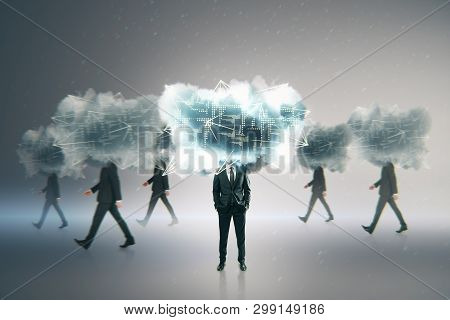 Cloud Computing And Technology Concept