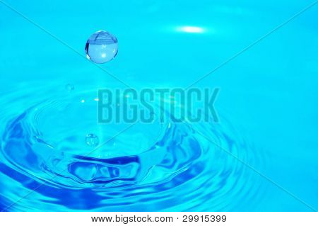 Macro of a water drop, shallow DOF (Water series D)