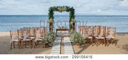Wedding On The Beach, Tropical Settings For A Wedding On A Beach - Bali Island. Exotic Destination W