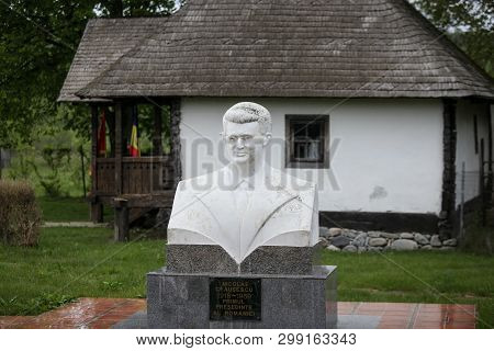 Scornicesti, Olt, Romania - May 01, 2019: Details With The House In Which Nicolae Ceausescu, Romania