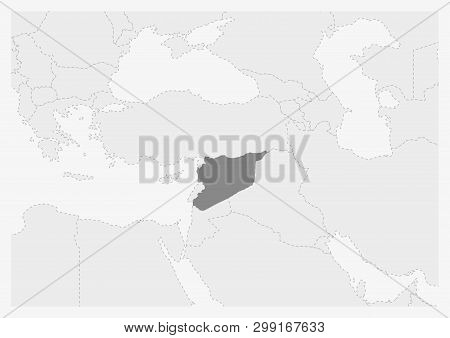 Map Middle East Vector & Photo (Free Trial) | Bigstock