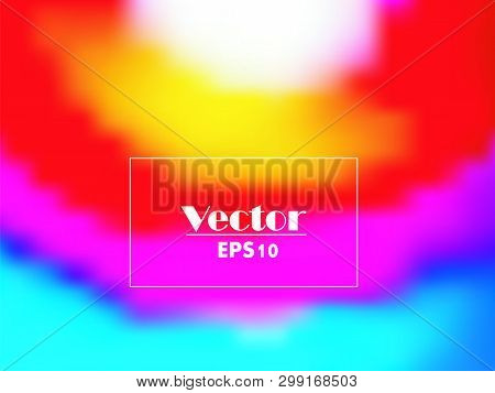 Abstract Watercolor Rainbow Gradient Background. Vector Illustration