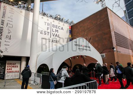 NEW YORK, NY - APRIL 30. 2019: Entrance and atmosphere from  30th Anniversary of