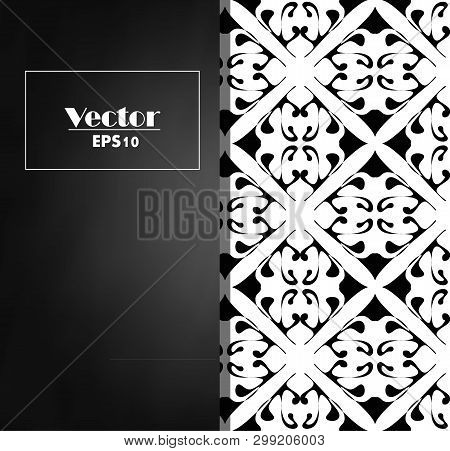 Vector Vintage Floral Decorative Background For Design Invitation Card, Packing, Booklet, Print.