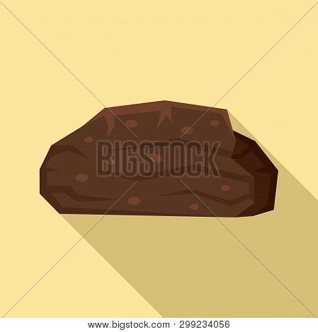Peat Stone Icon. Flat Illustration Of Peat Stone Vector Icon For Web Design