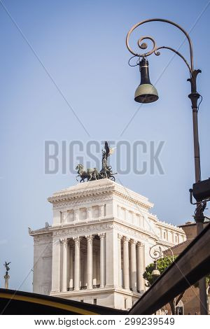 Rear View Of The Building Of The Cassation Court In Rome Italy