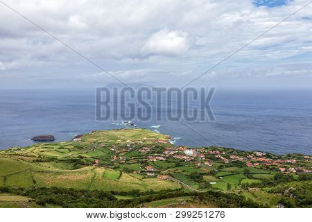 View Of Ponta Delgada On The Island Of Flores In The Azores.