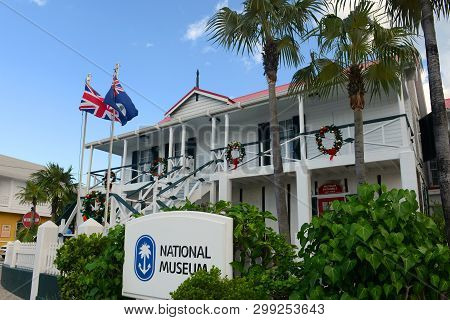 Cayman Islands - Dec 30, 2014: National Museum In Downtown George Town, Grand Cayman, Cayman Islands