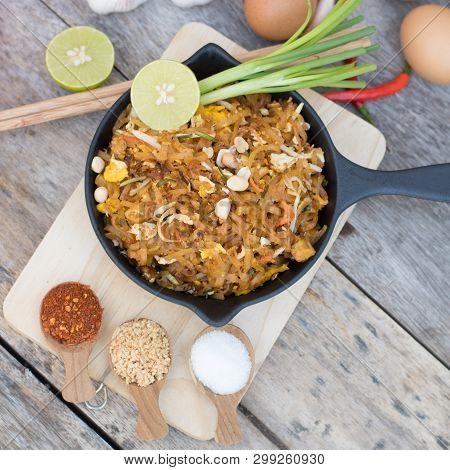 Thai Food Pad Thai , Stir Fry Noodles In Pad Thai Style