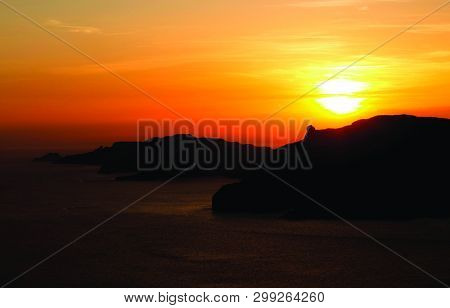 Natural Beauty Of Sunset During Golden Hour