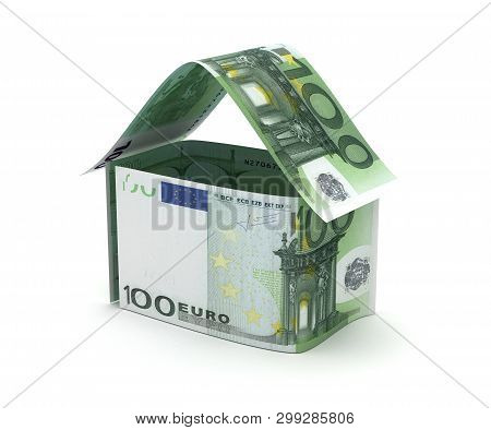 Real Estate With European Euro (isolated On White Background)(3d Rendering)