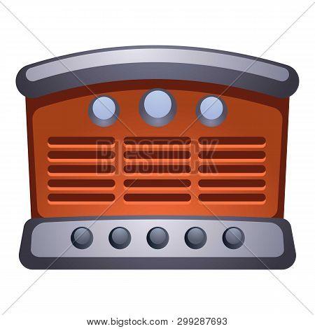 Old Retro Radio Icon. Cartoon Of Old Retro Radio Vector Icon For Web Design Isolated On White Backgr
