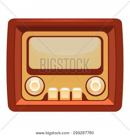 Transistor Radio Icon. Cartoon Of Transistor Radio Vector Icon For Web Design Isolated On White Back