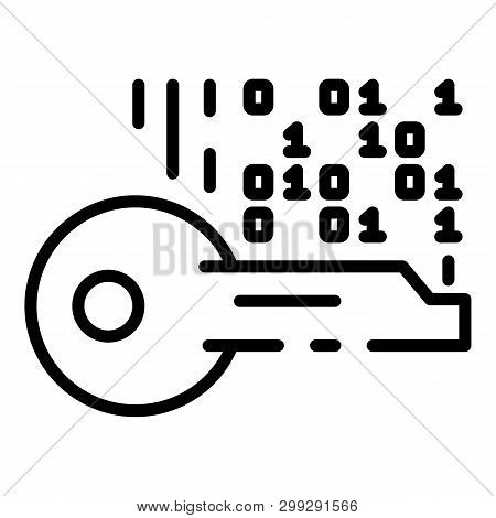 Selection Of Encryption Key Icon. Outline Selection Of Encryption Key Vector Icon For Web Design Iso