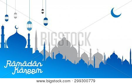 Ramadan Kareem Background. Ramadan Kareem Vector, Islamic Arabic Lantern. Translation Ramadan Kareem