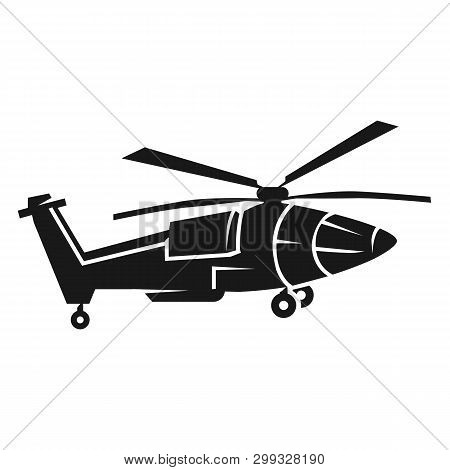 Pointy Helicopter Icon. Simple Illustration Of Pointy Helicopter Icon For Web Design Isolated On Whi