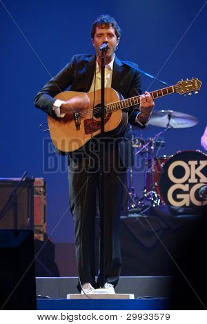 Orlando, Florida - January 15: Damian Kulash Lead Vocals And Guitar Player Of Rock Band Ok Go Perfor