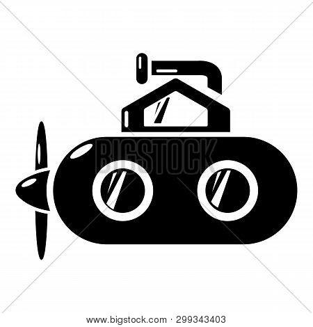 Submarine Periscope Icon. Simple Illustration Of Submarine Periscope Icon For Web