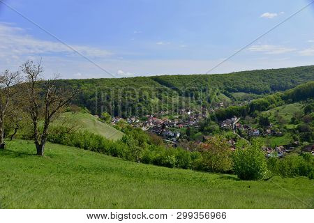 Spring; Green Everyhere In Carpathian Mountains At Transylvania