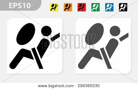 Airbag Icon Symbol. Airbag Element. Symbol. Linear Style Sign For Mobile Concept And Web Design. Air