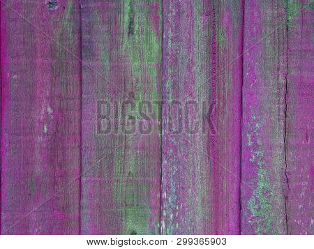 Vibrant Pink And Green Florescent Fence Pannels